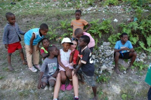 Rachelle's daughter with the children of Cambry