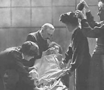 Suffragette being force fed during hunger strike